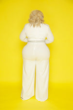 Ivory Glam Side Jumpsuit