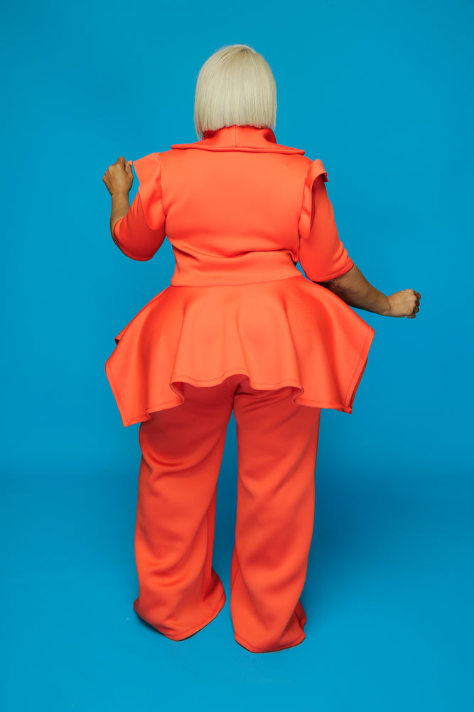 Orange Voluptuous Pant Set