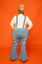 Blue Bell Bottom Suspender Jeans