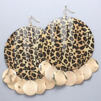 Leopard Oversize Earrings