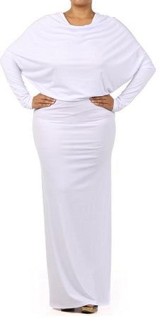 White Long Monroe Dress