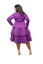 Purple Zandra Petal Dress