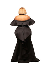 Black Angel Ruffle Rear Gown