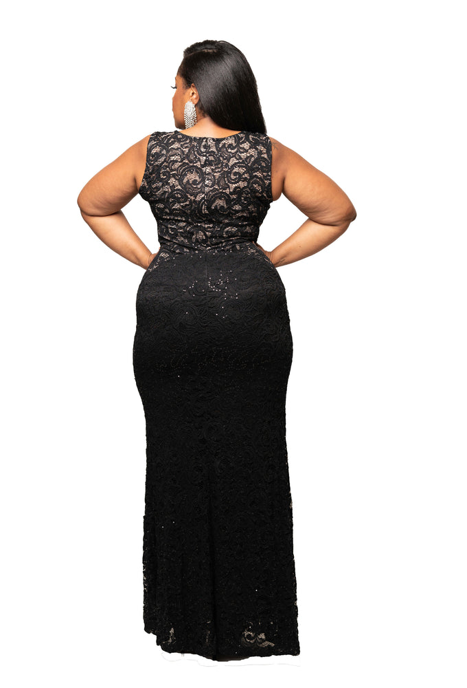 Black Lola Lace Gown