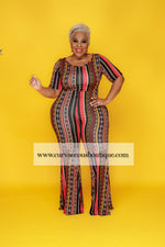 Print Flare Your Curves Jumpsuit