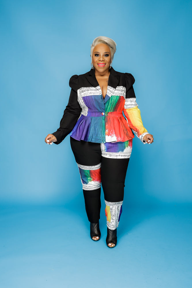 Music to My Curves Peplum Suit