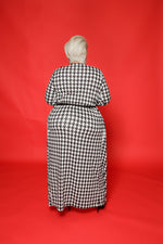 Houndstooth Print Duster Set