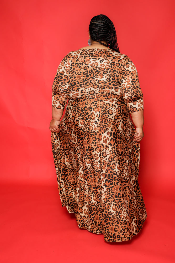 Extended Size Animal Print Gabby Dress