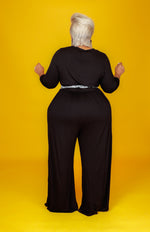 Black Kifini Wide Leg Jumpsuit