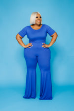 Blue Flare Your Curves Jumpsuit