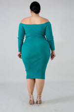 Green Cammie Midi Dress
