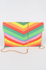 Rainbow Envelope Clutch