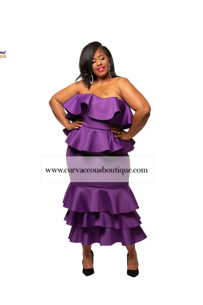 Purple Rachel Tiered Dress