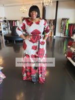 Red Rose Gabby Maxi Dress