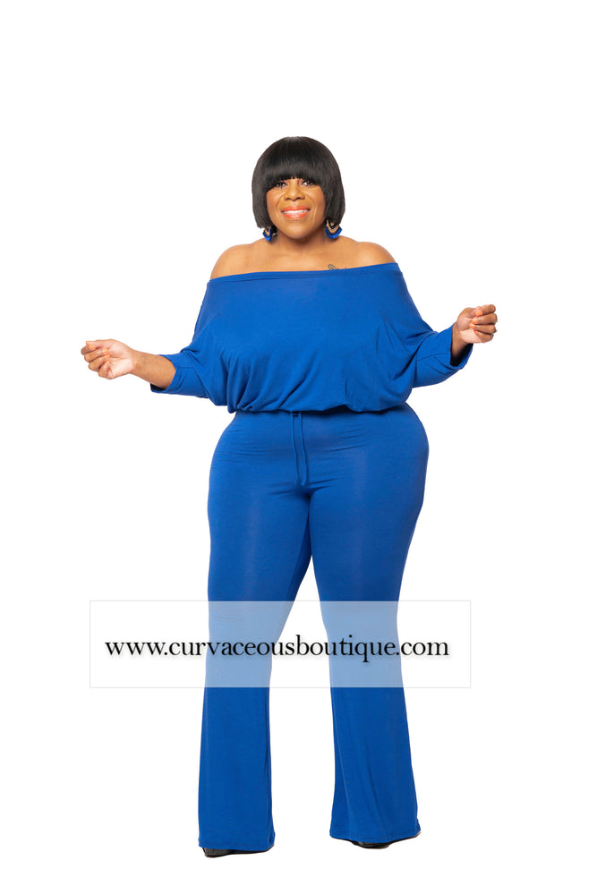 Blue Amber Flare Jumpsuit