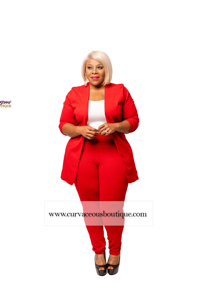 Red Marcella Pant Suit