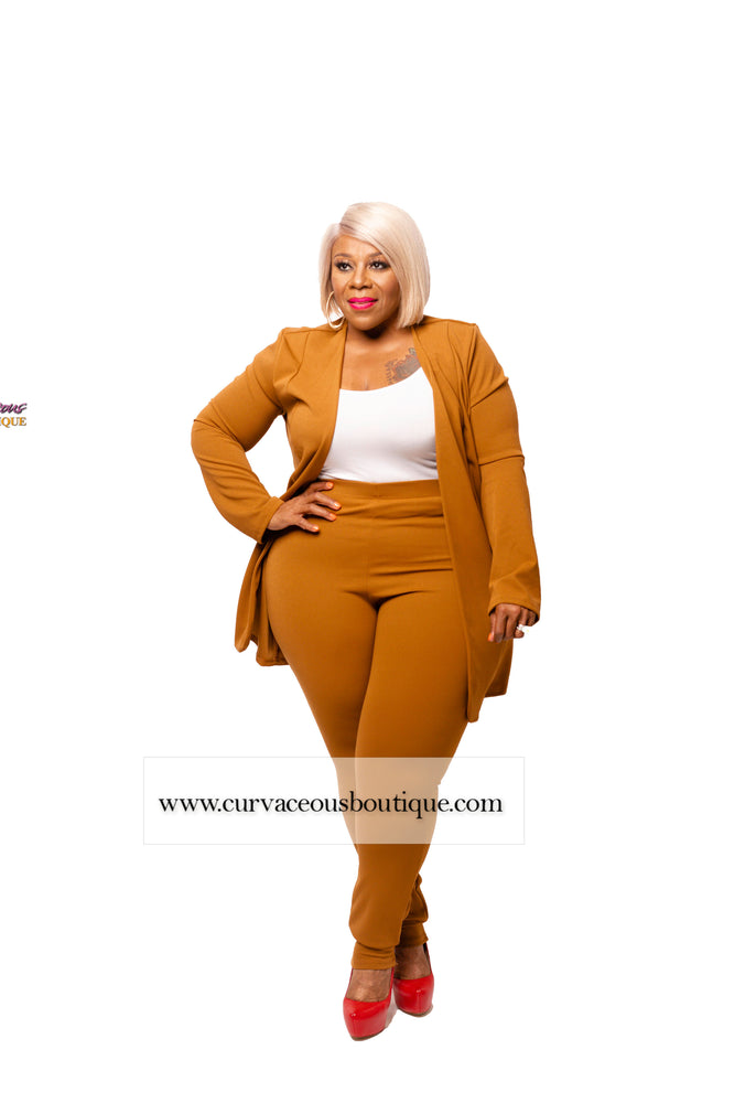 Tan Marcella Pant Suit