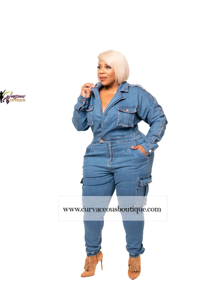 Blue Denver  Denim Jumpsuit