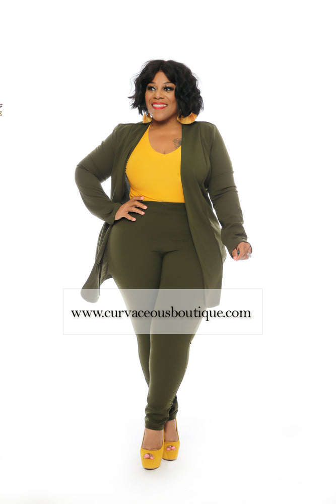 Olive Green Marcella Pant Suit