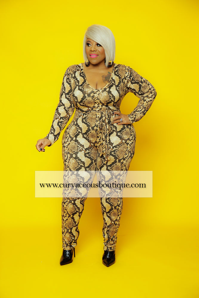 Shawnie Animal Print Catsuit