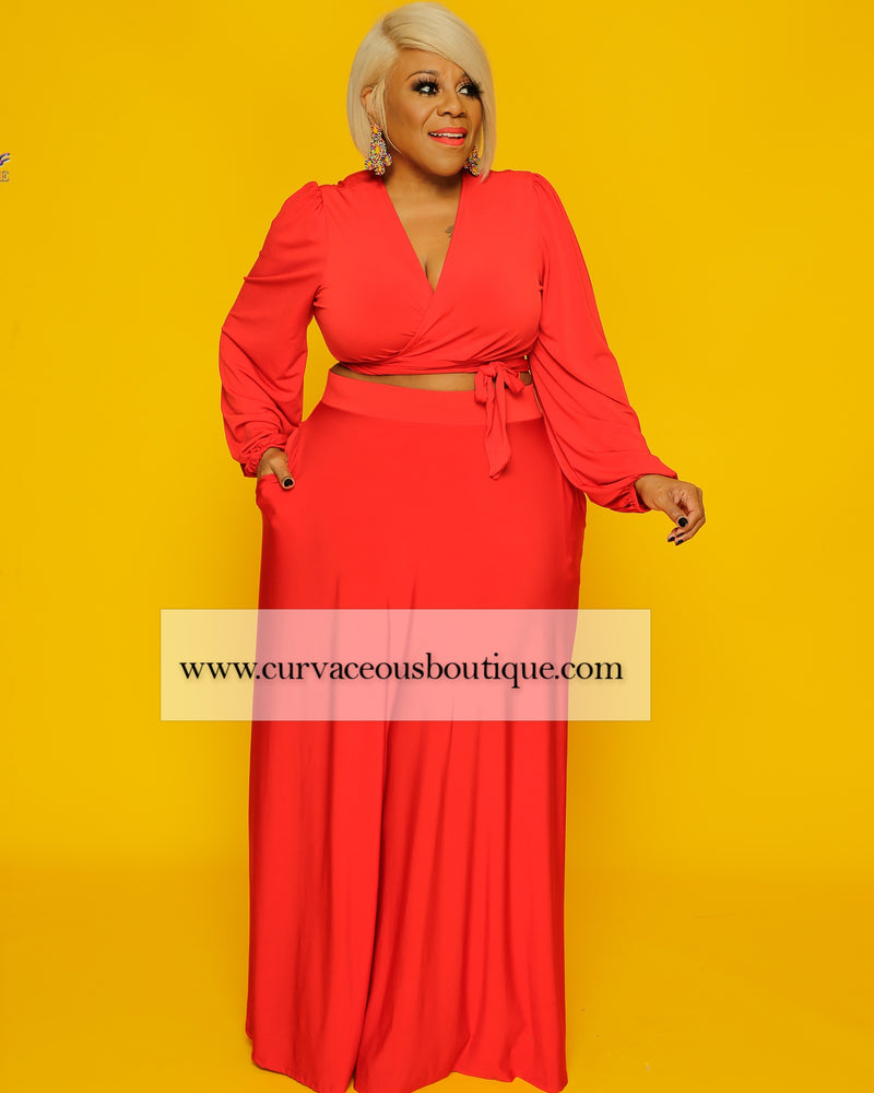 Red Lashun Maxi Skirt Set