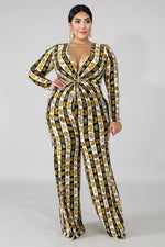 Ginger Knot Print  Jumpsuit