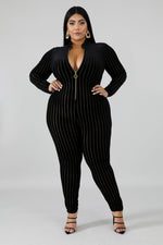 Sheba Sheer Stripe Catsuit