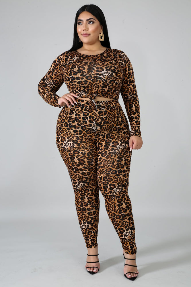 Animal Print Leggings Set