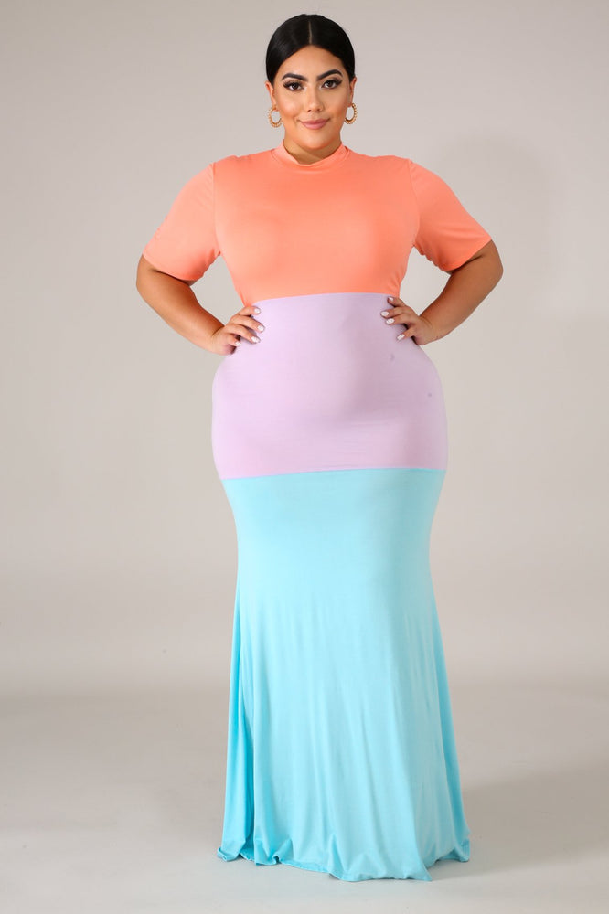 Sherbet Triple Tone Dress