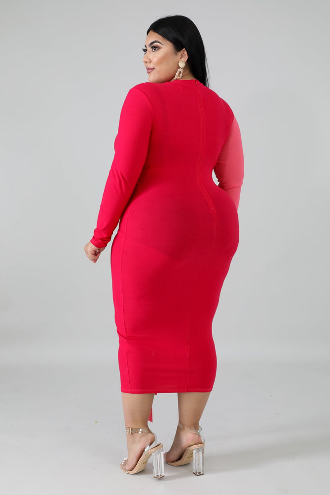 Pink Two Tone Body-Con Dress