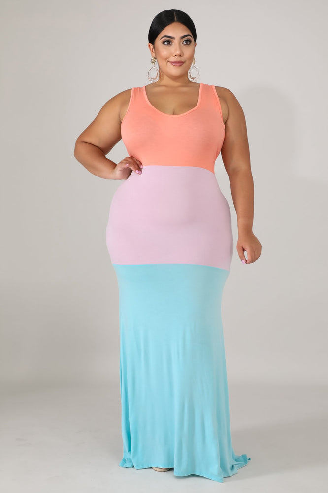 Sherbet Triple Mermaid Dress