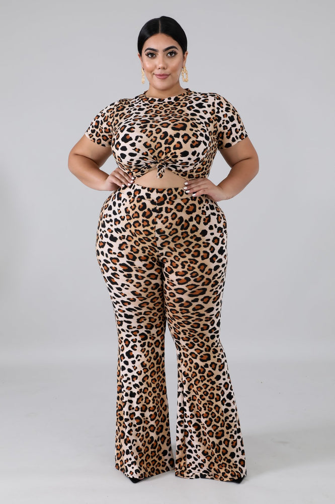 Cheetah Bell Bottom Set