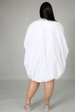 White Drawstring Dress