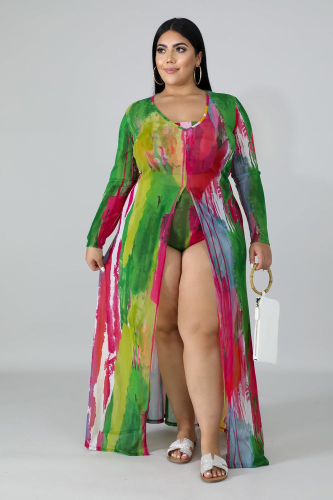 Sheer Tie Dye Swim Set