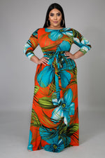 Hawaiian Gabby Maxi Dress