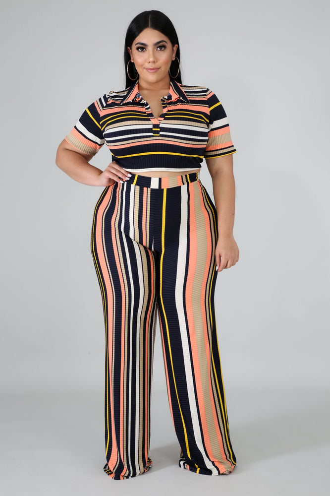 Jaylee Stripe Pant Set