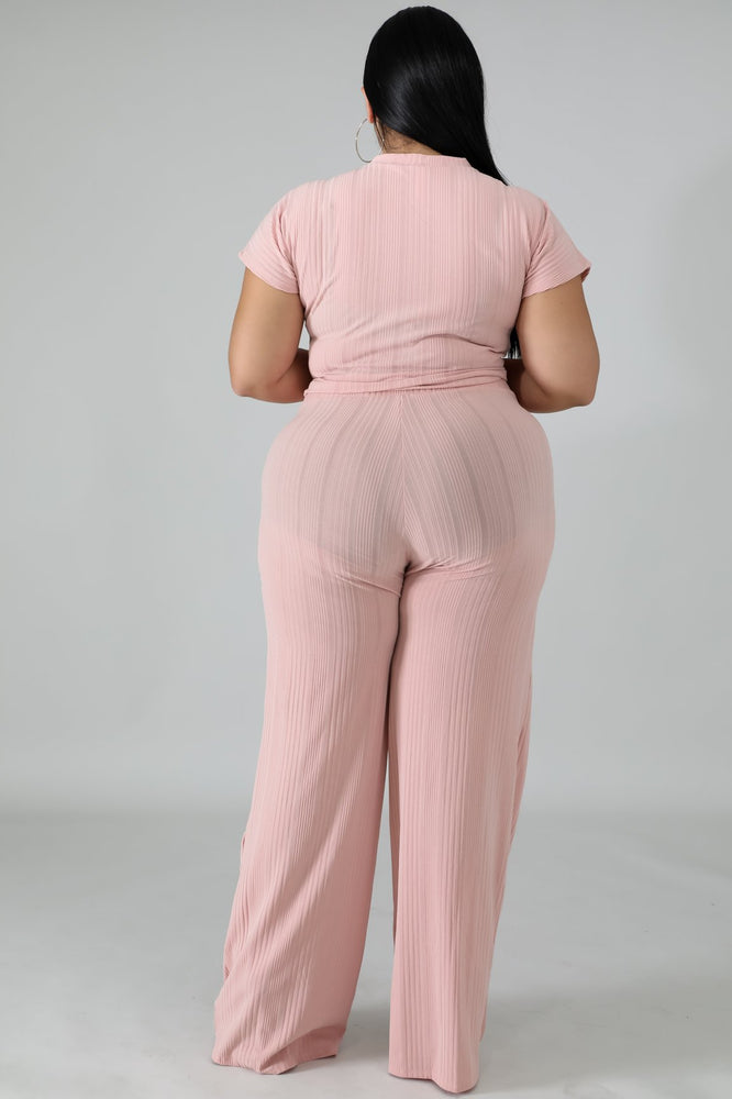 Blush Jenn Rib Pant Set