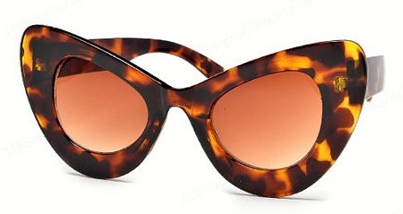 Tortoiseshell Shade Thick Cat Eye Frames