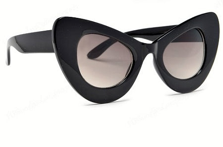Black Shade Thick Cat Eye Frames