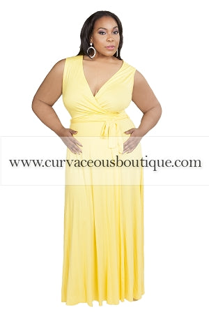 Yellow Jan Wrap Maxi Dress