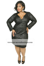Black Heather Sequin Body-Con Dress