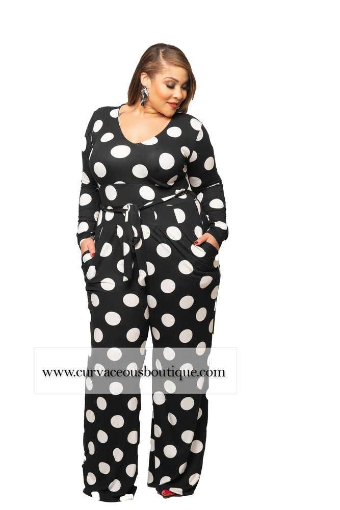 Black Polka Dot Sherry Jumpsuit