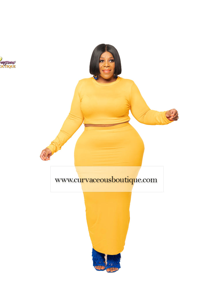 Mustard Donnie Maxi Skirt Set
