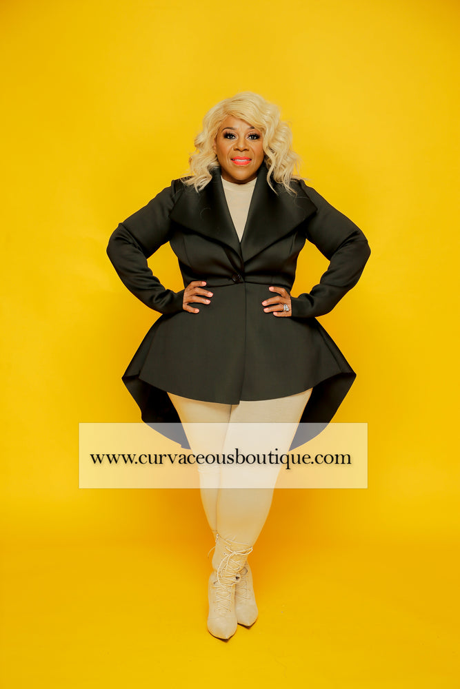 Black Glam Peplum Jacket