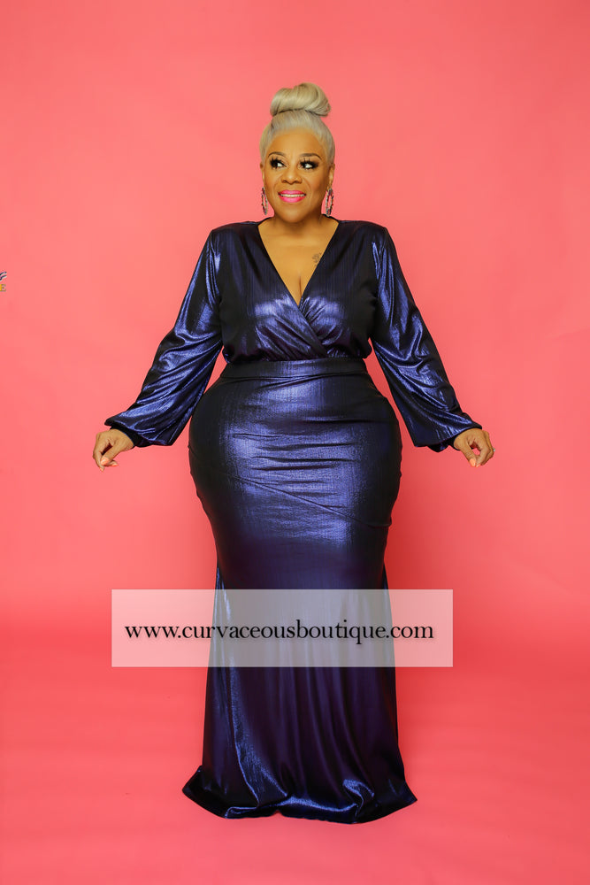 Royal Blue Regal Collection Gown