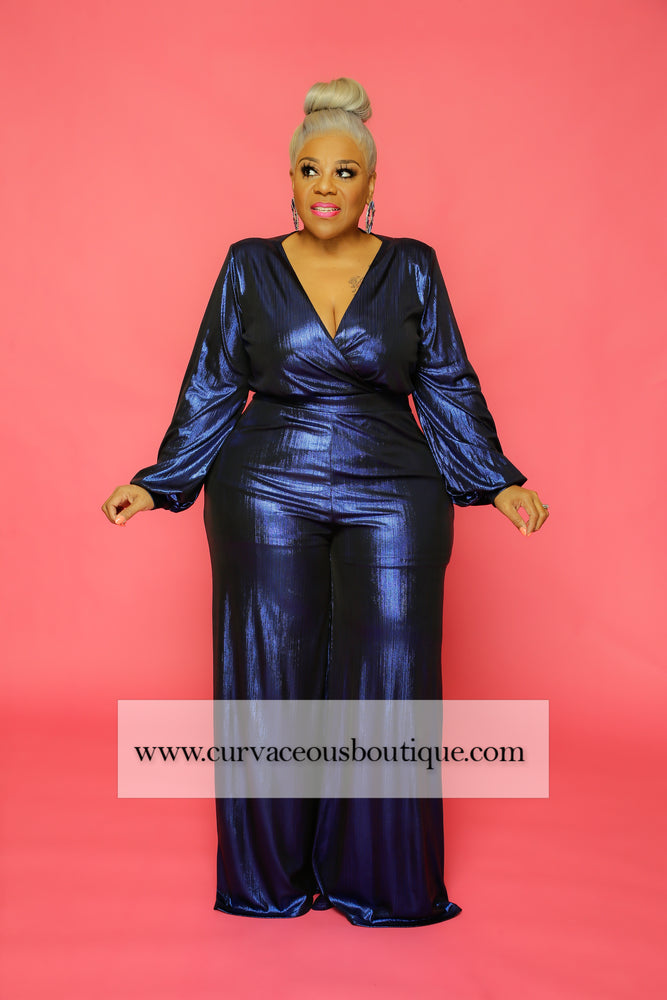 Royal Blue Regal Collection Jumpsuit