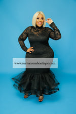 Black Voluptuous Lace Dress
