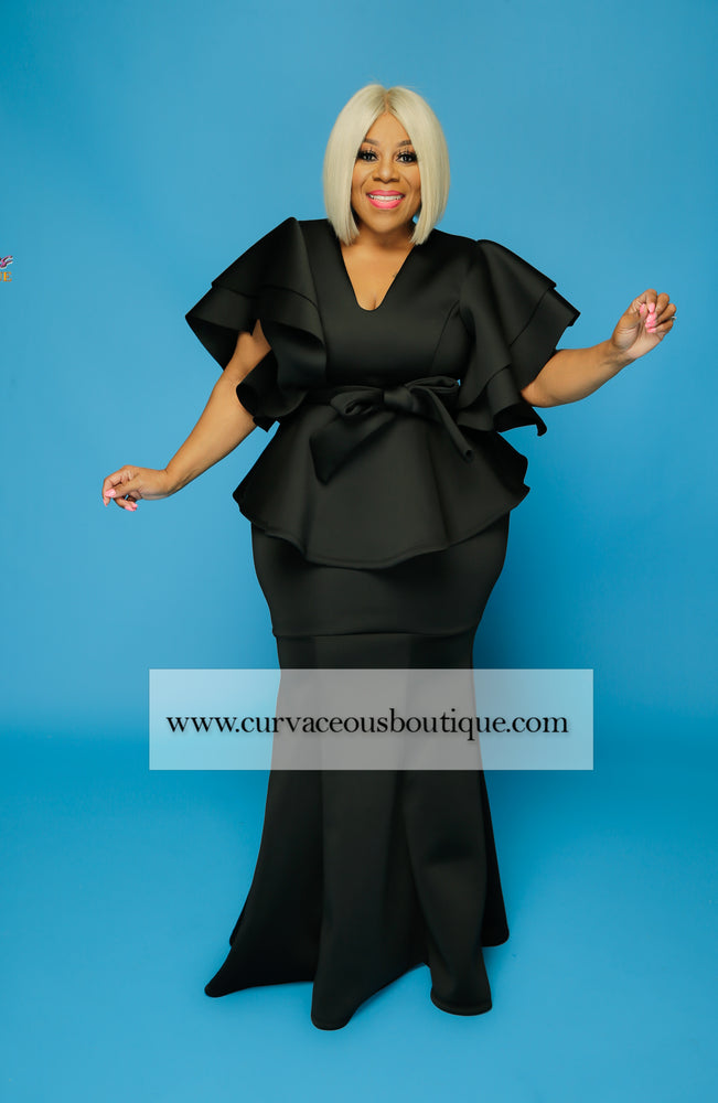Black Voluptuous Skirt Set