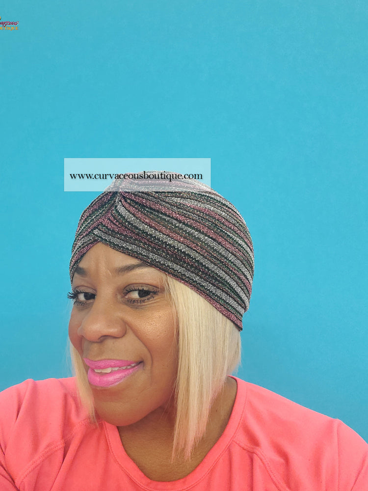 Pink Multi Stripe Turban