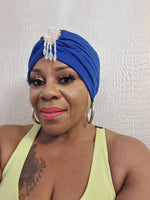 Royal Blue Jewel Turban